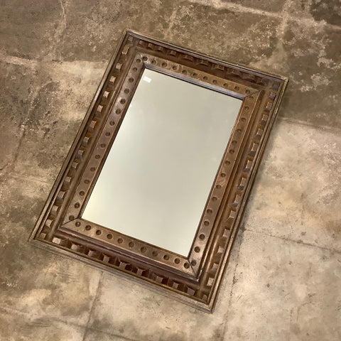 SALE - Vintage Wooden Mirror from Guatemala