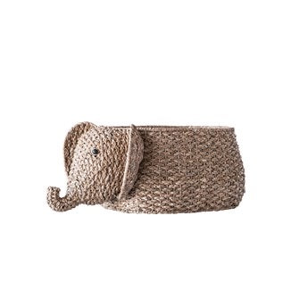 Woven Bangkuan Elephant Basket from the Philippines