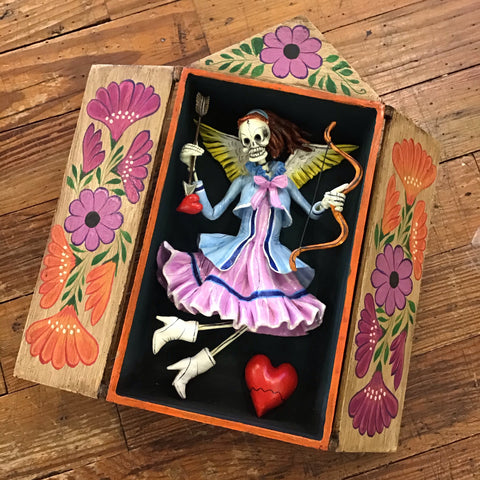 Skeleton Heartbreaker Quispe Retablo Box