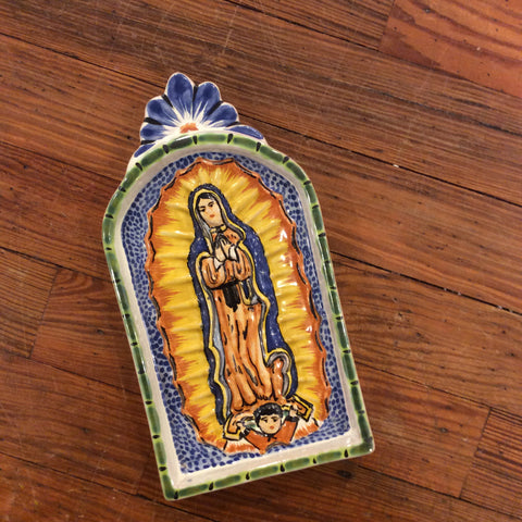 Gorky Ceramic Small Altarpiece - Virgin of Guadalupe