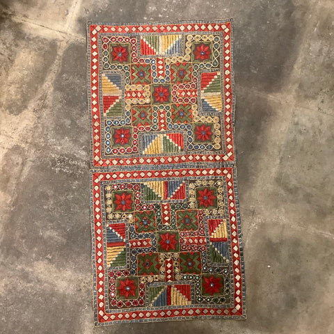 Indian Mirror Embroidery - Double