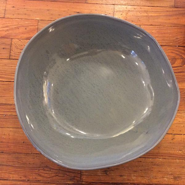 "12"" Round Bowl in Blue Gray"