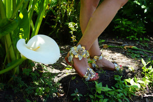 Sara Melissa Designs, Sandals, Flowers, Mixed Metals