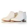 Sara Melissa Designs, shoes, white bootie,  Handtooled, Leather