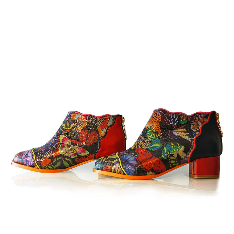 Sara Melissa Designs, shoes, butterfly, painted, Leather boots