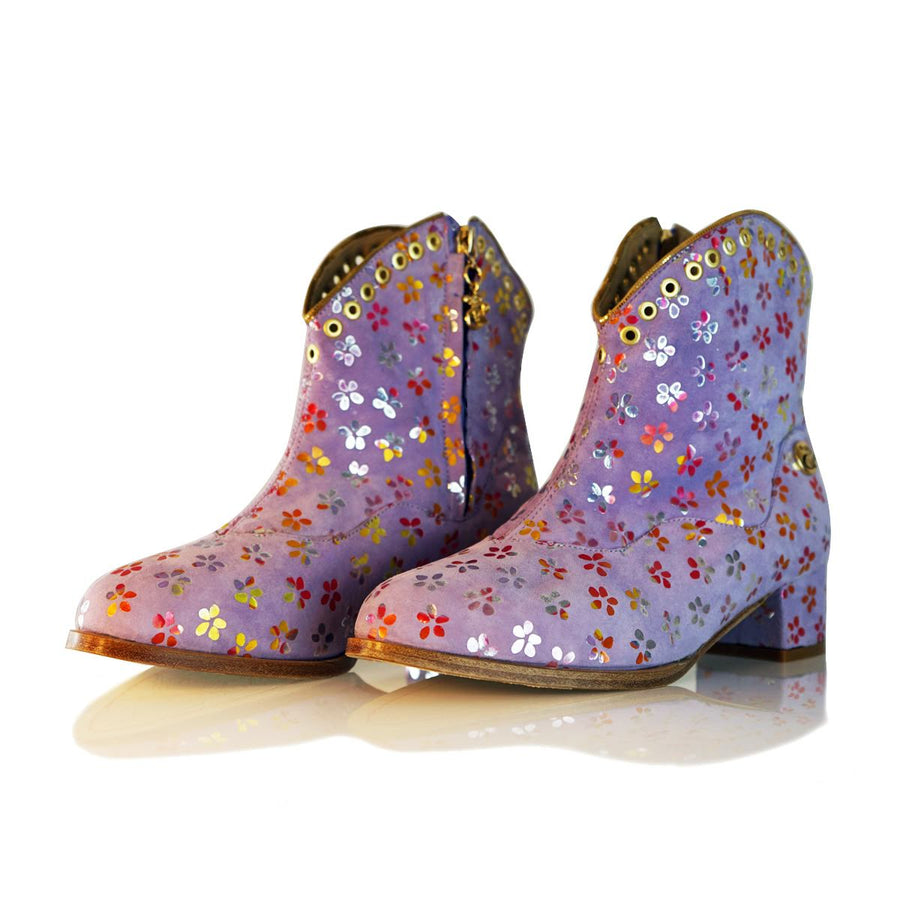"""Flower Power"" City Vaquerita Bootie"