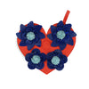 "Red / Blue ""Heart Bouquet"""