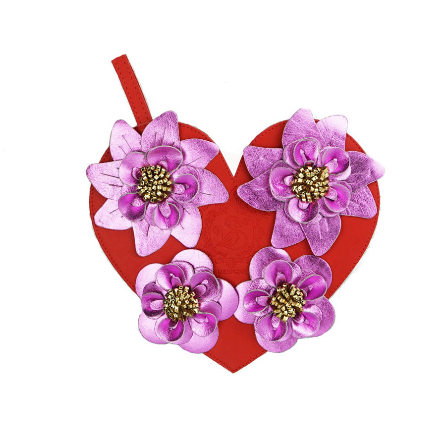"Purple Metalico / Rose Gold Metalica  ""Heart Bouquet"""