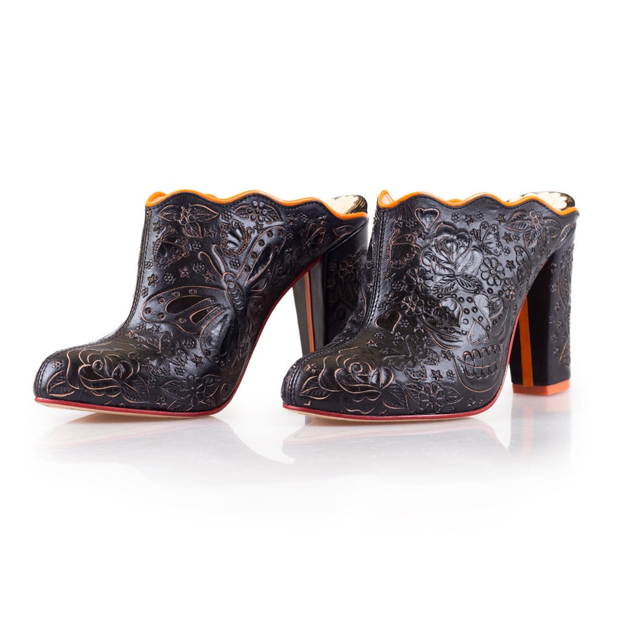 Sara Melissa Designs Shoes Ankle Bootie hand tooled leather