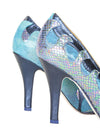 Sara Melissa Shoes leather pump blue sirena waves