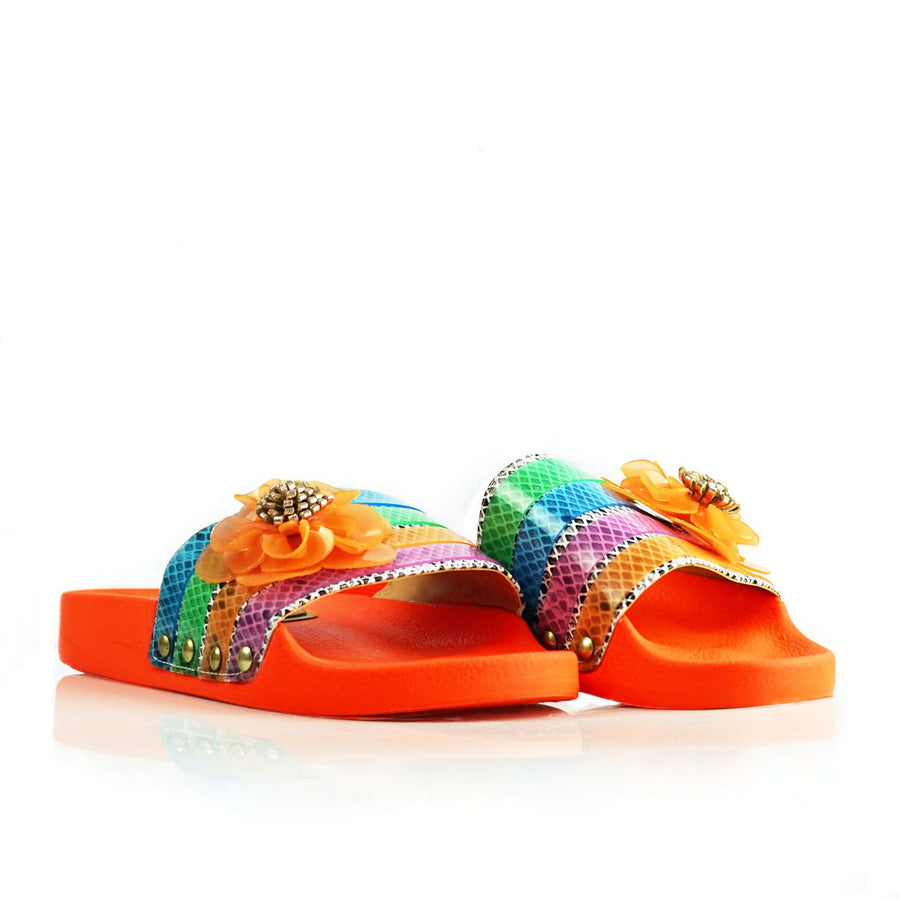 """Orange Neon Mamba"" Slide"