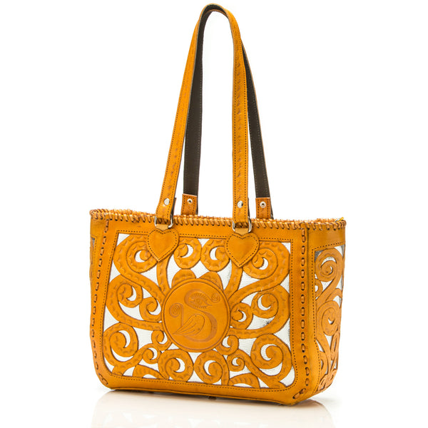 Sara Melissa Designs Hand-tooled Couture Tote