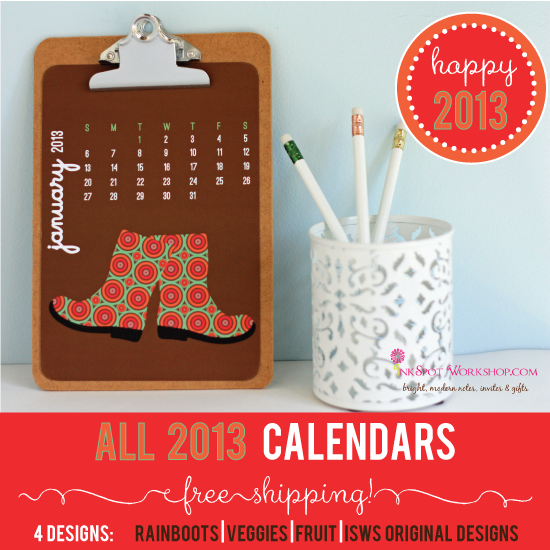 Gear Up For 2013 With Fun Calendars - Free Shipping