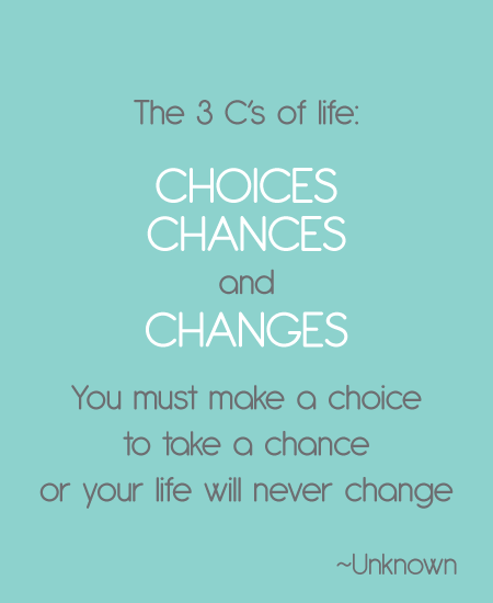 Weekly Inspiration - The 3 C's Of Life