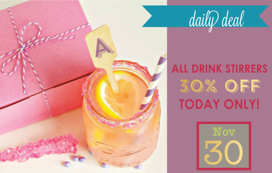Daily Deal - Week Of Thanks Drink Stirrers