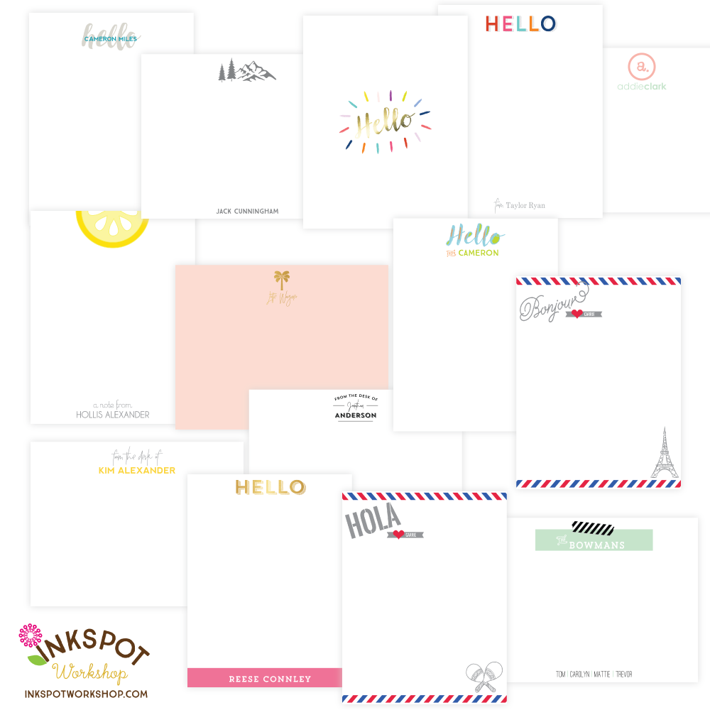 NEW Personalized Stationery Designs For Everyone!