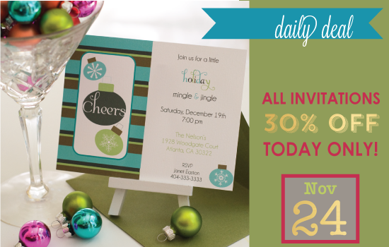 Daily Deal - Week Of Thanks Invitations