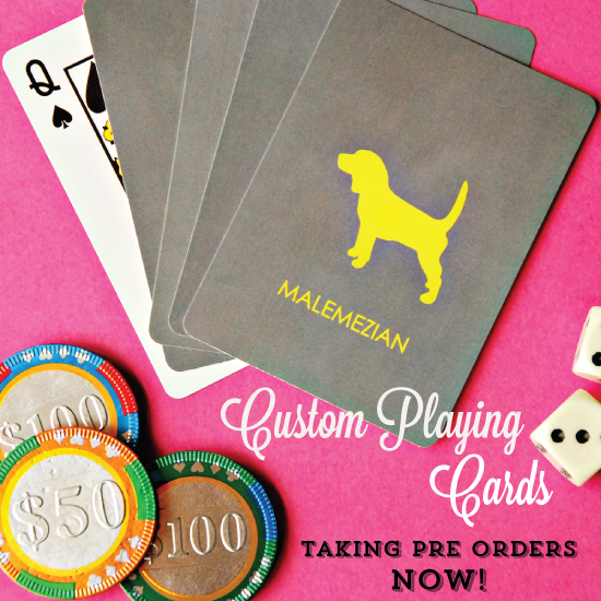 Personalized Playing Cards - Pre Ordering NOW