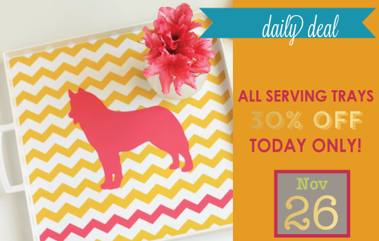 Daily Deal - Week Of Thanks Serving Trays