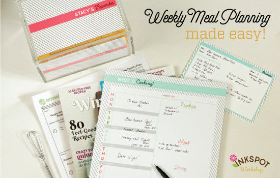 Weekly Meal Planner - Take A Load Off!