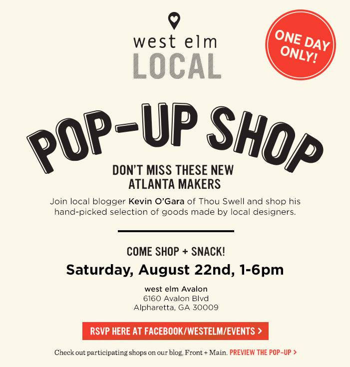 West Elm Pop Up - Swing on By