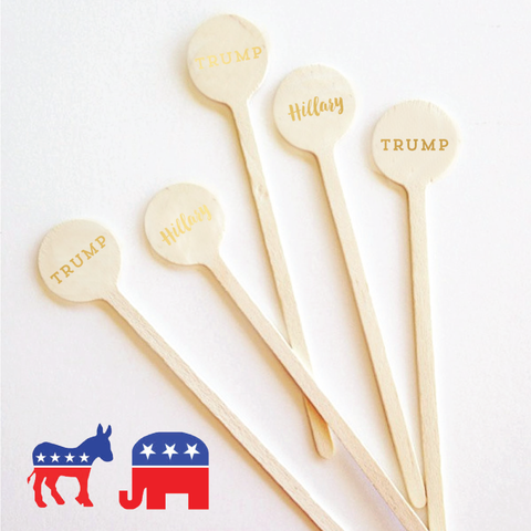 Presidential Race Cocktail Stirrers