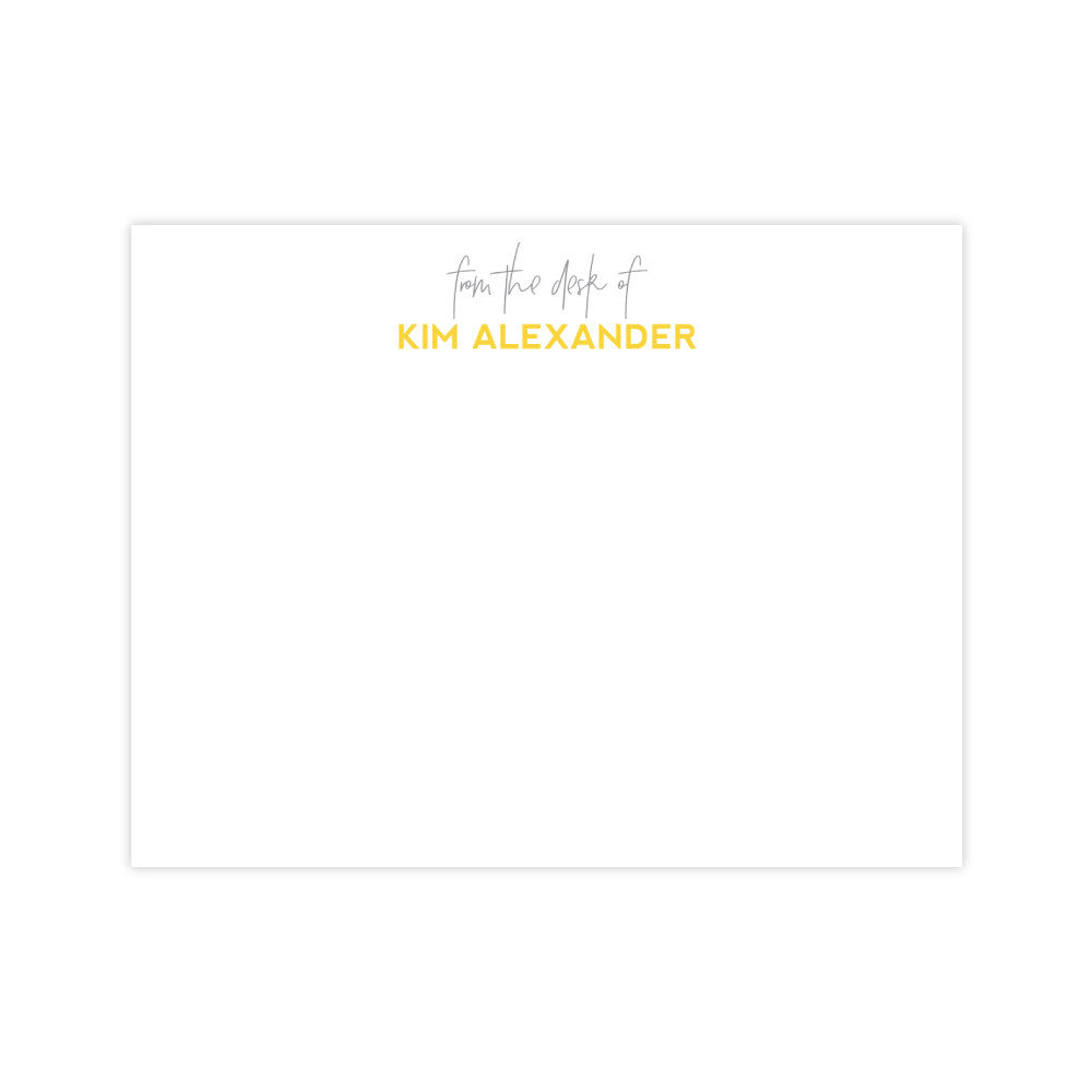 Personalized Stationery | From The Desk Of