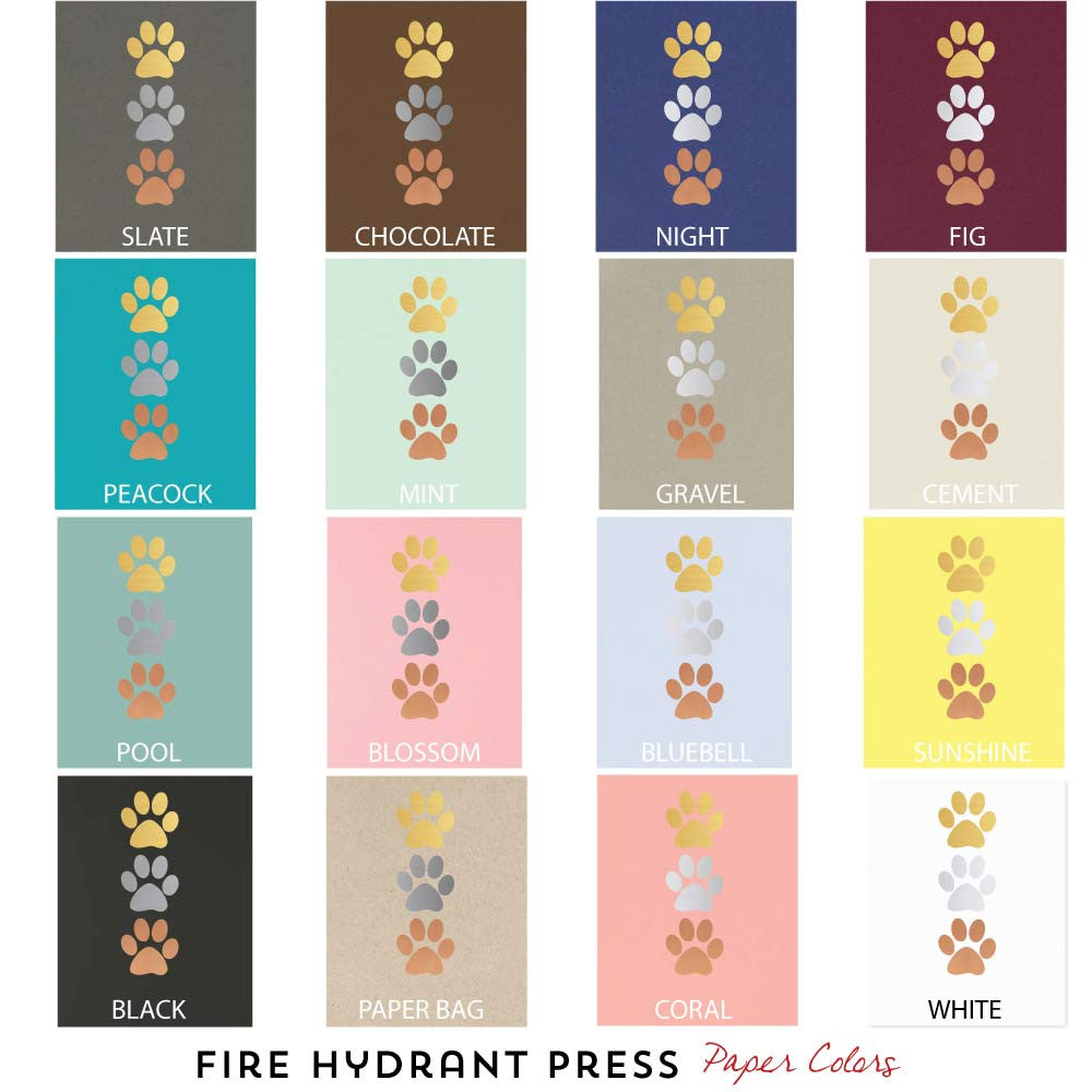 Paper and Foil Colors for fire hydrant press dog art