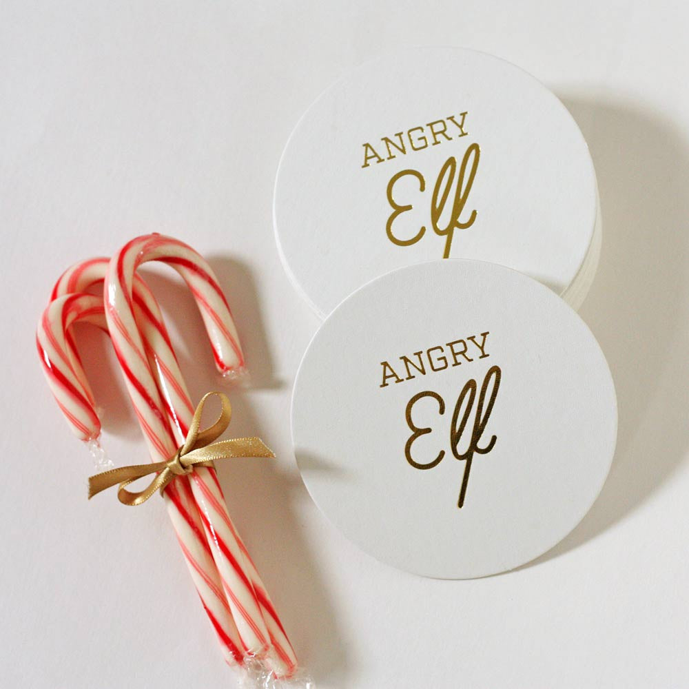 Angry Elf Coasters
