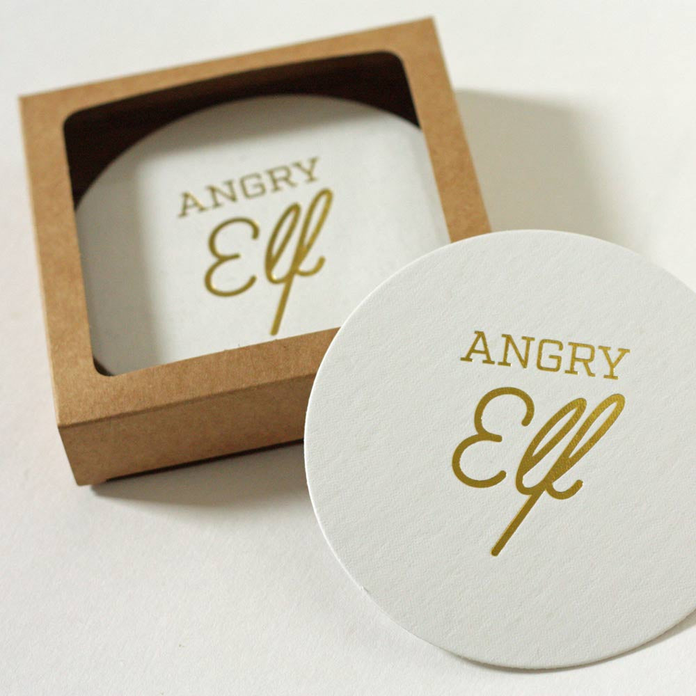 Angry Elf Coaster Set