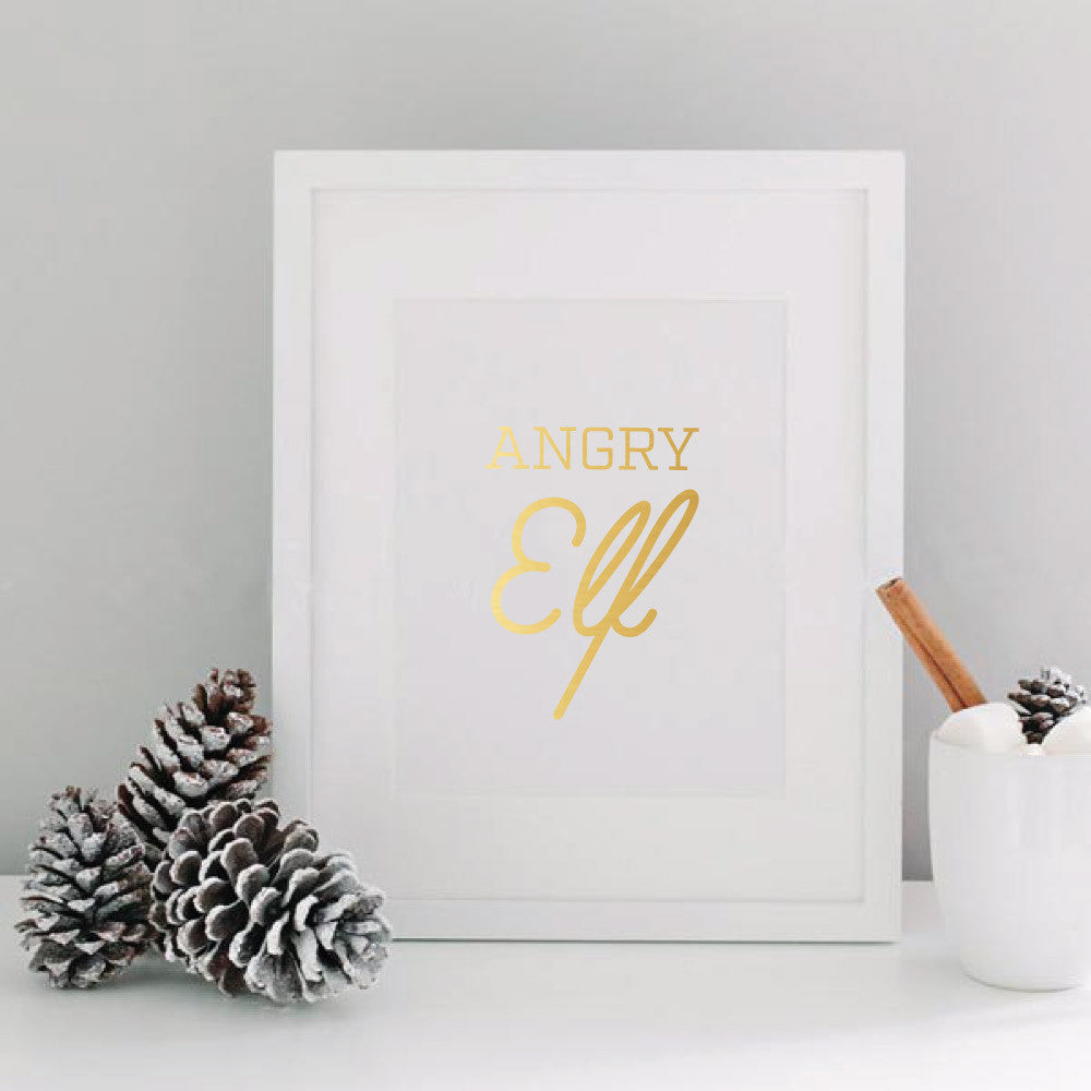 Elf The Movie Foil Print - Angry Elf