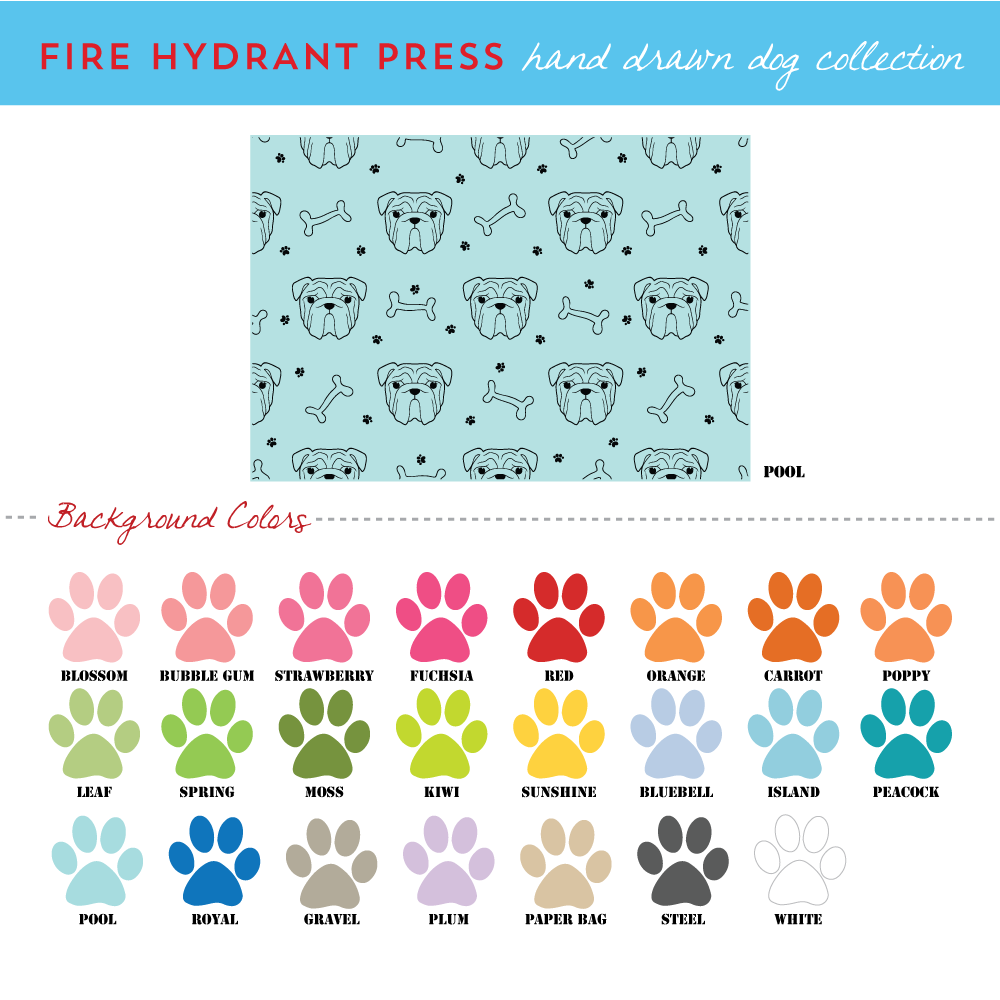 Custom Dog Breed Illustration Wrapping Paper