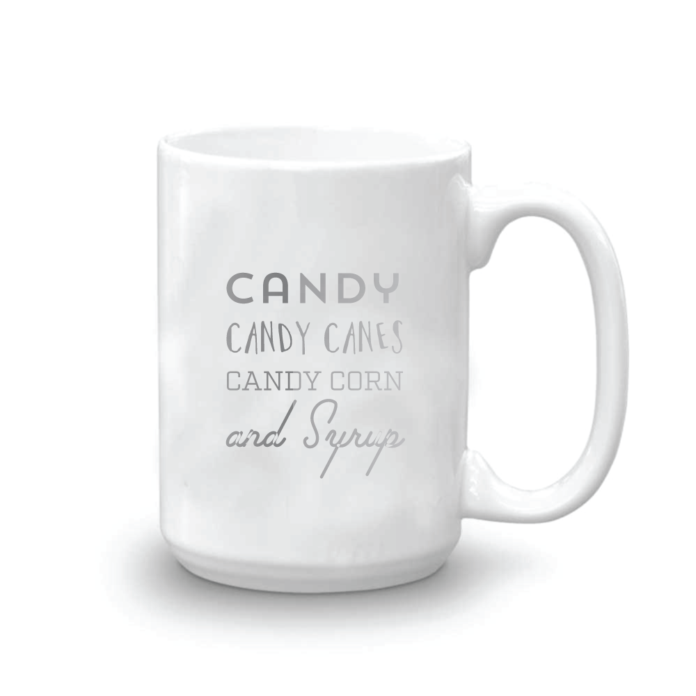 candy candy canes candy corn mugs elf the movie