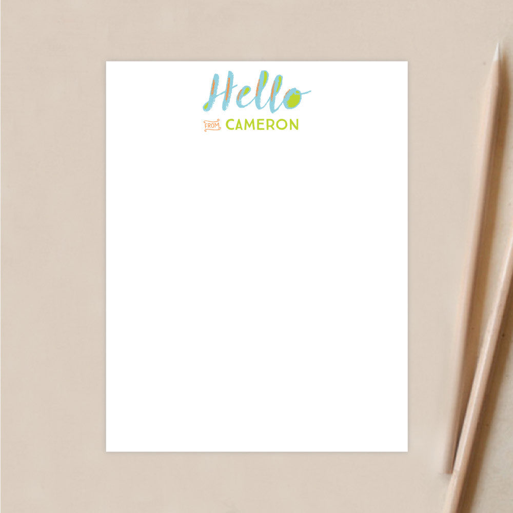 Personalized Stationery | Canvas Hello