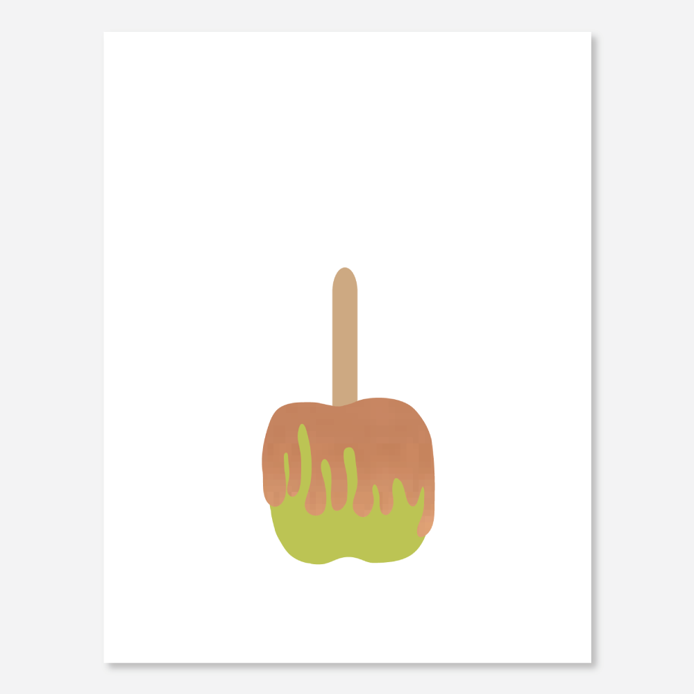 Bronze Foil Caramel Apple Greeting Card