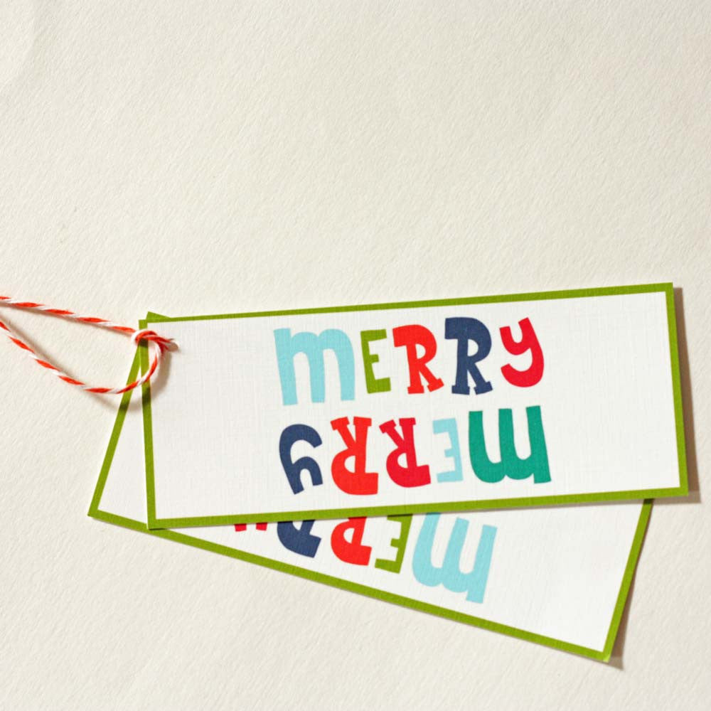 Holiday Gift Tags - Merry Merry