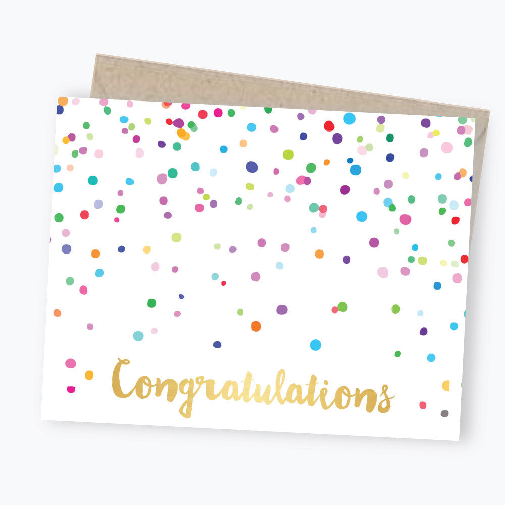 confetti card congratulations card