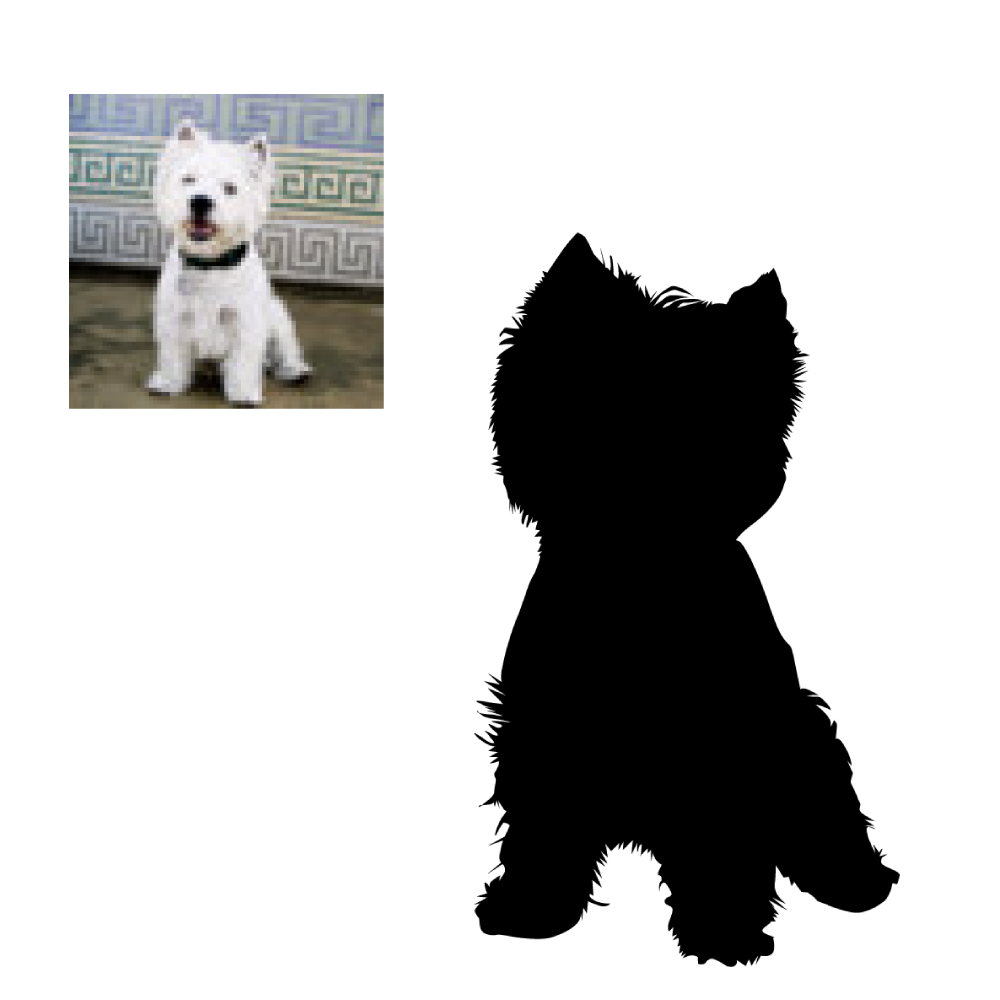 Custom Dog Silhouette