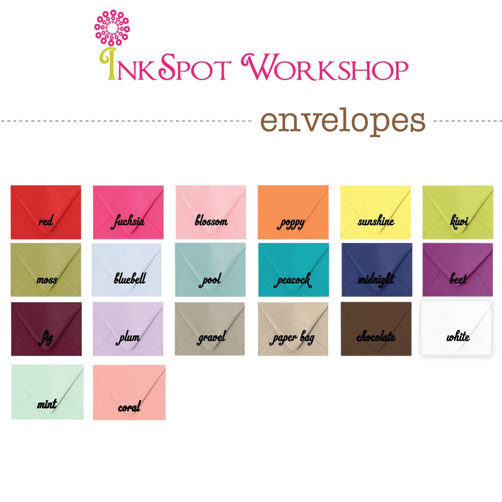 inkspot workshop envelope colors