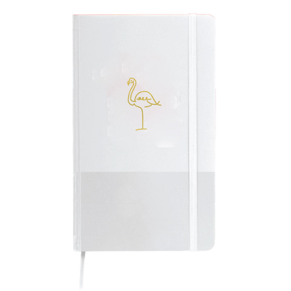gold foil flamingo journal