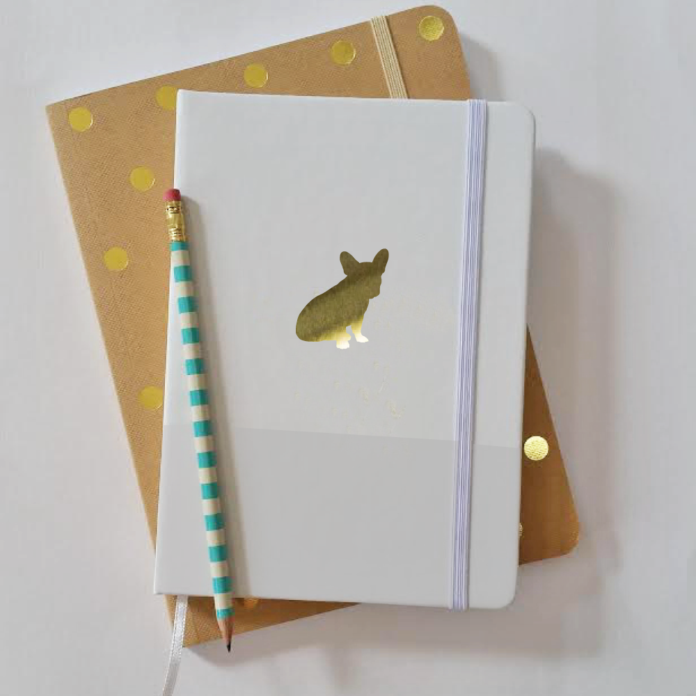 dog breed silhouette journal