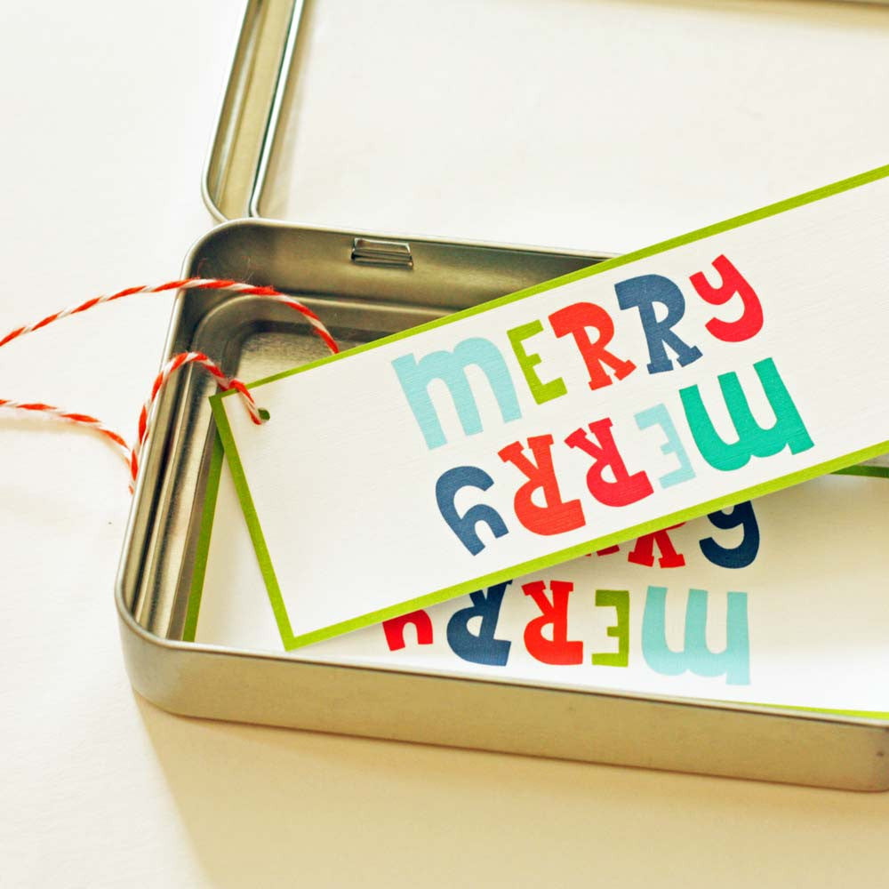 Christmas Gift Tags - Merry Merry
