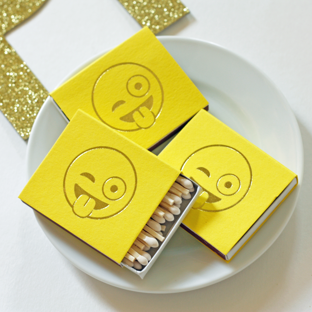 winky face emoji matches favors
