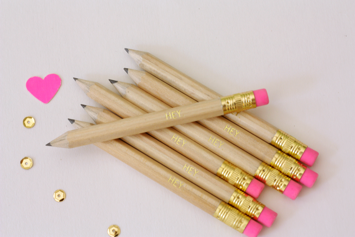 gold foil hey pencils inkspot workshop