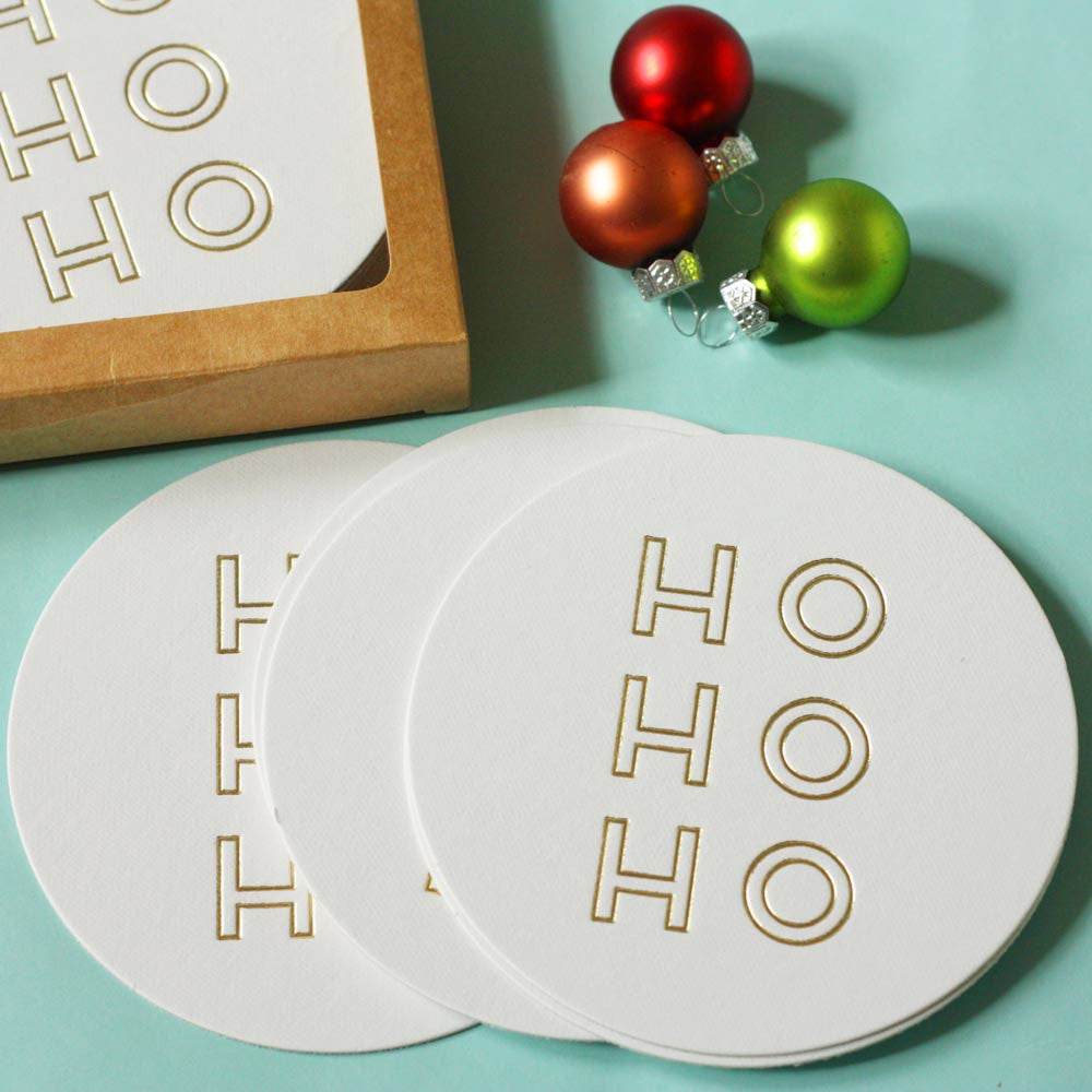 Gold foil Holiday Coasters
