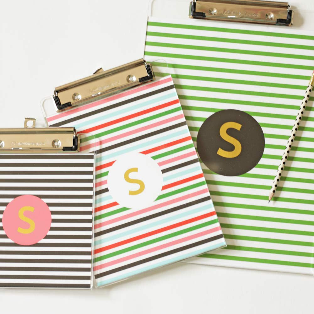 personalized clipboards with stripes