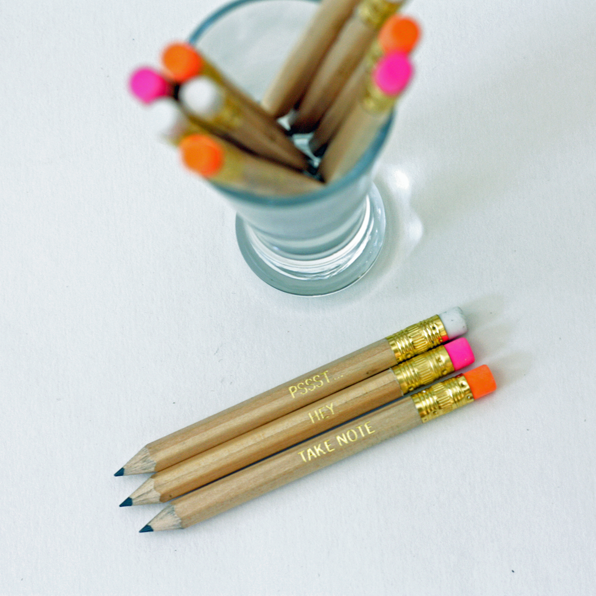 gold foil party favor pencils