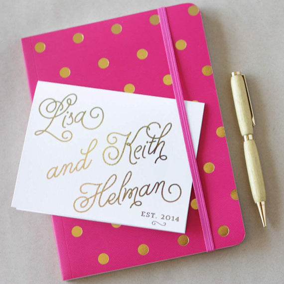 Hand Lettered Couple's Personalized Stationery