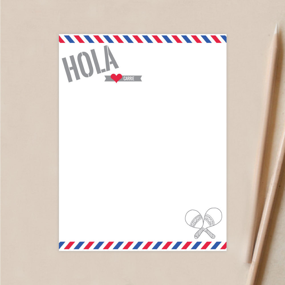 Personalized Stationery | Hola Air Mail