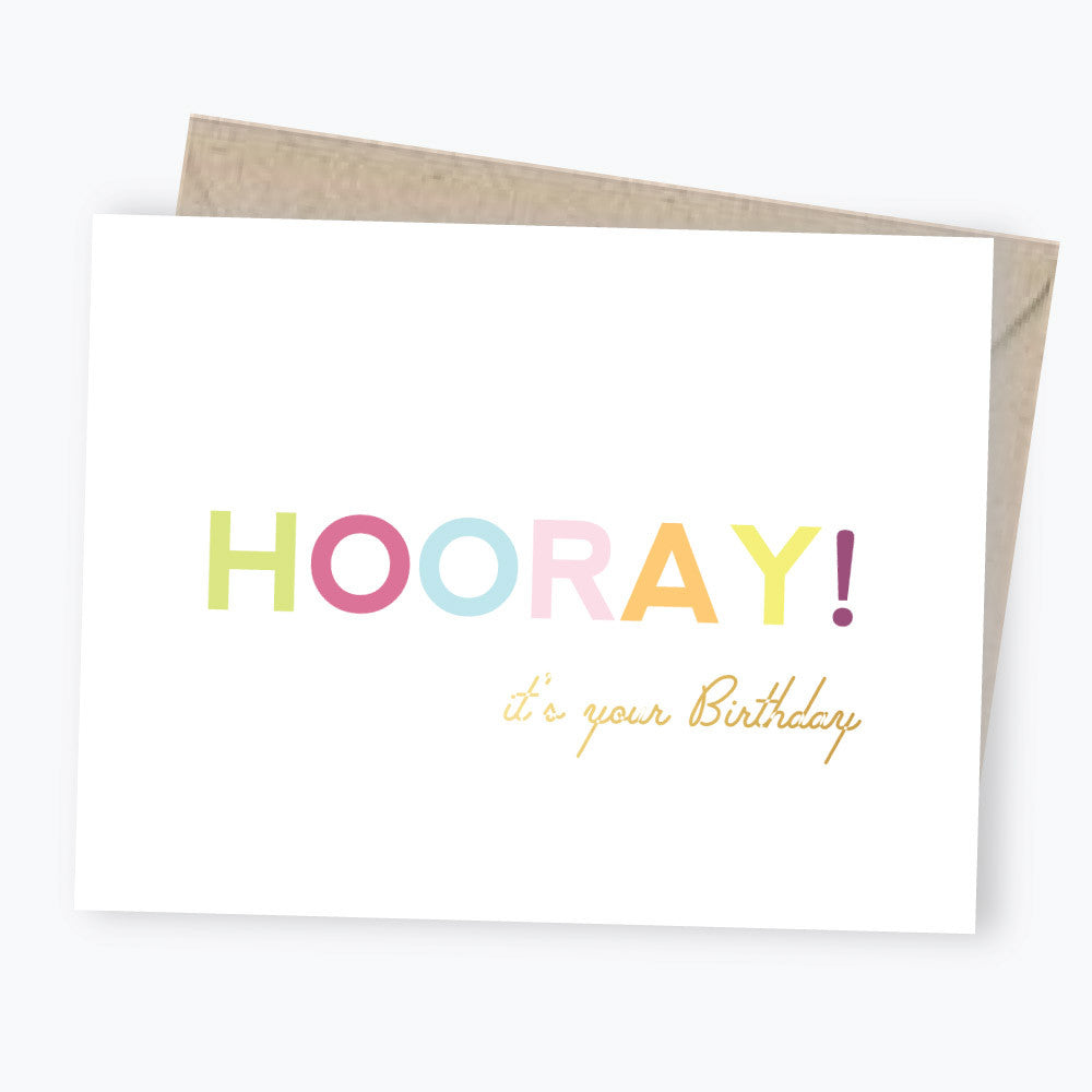 hooray birthday card
